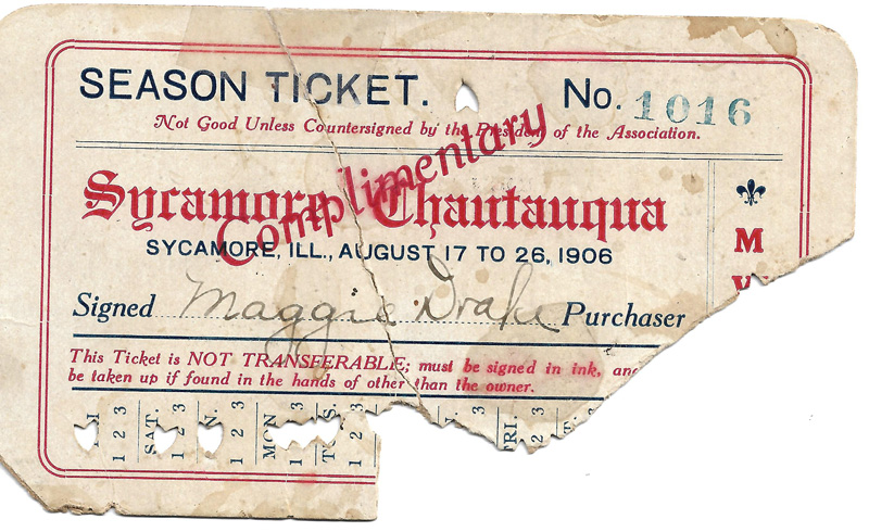Chautaugua Season Ticket