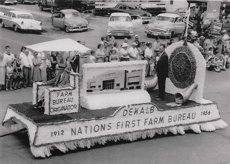 DeKalb Farm Bureau Float, 1956